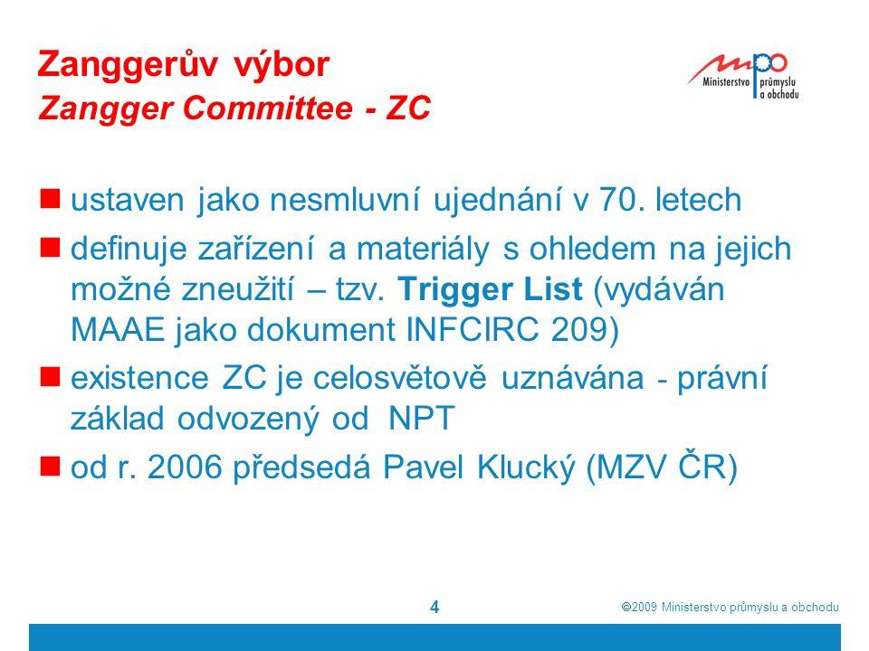 Zanggerův výbor Zangger Committee - ZC