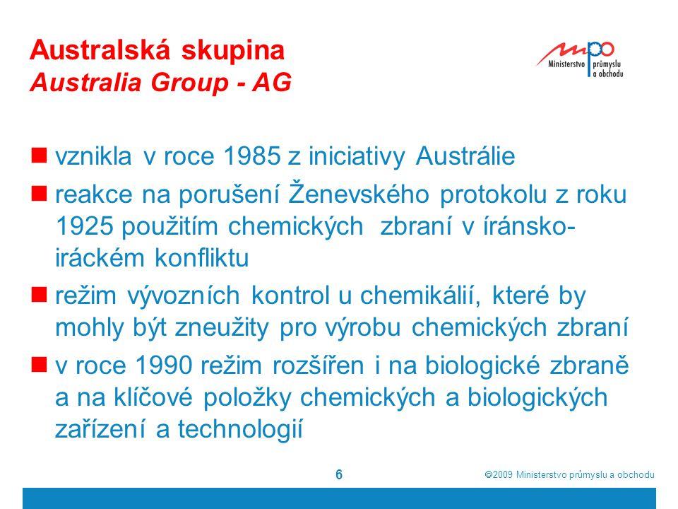Australská skupina Australia Group - AG
