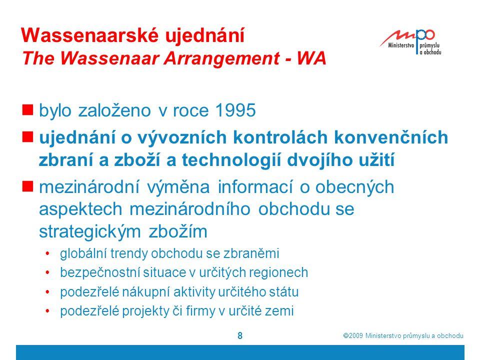 Wassenaarské ujednání The Wassenaar Arrangement - WA