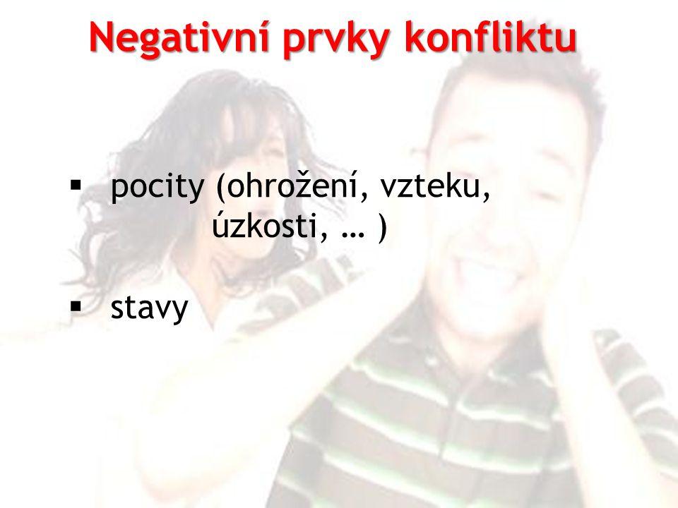 Negativní prvky konfliktu