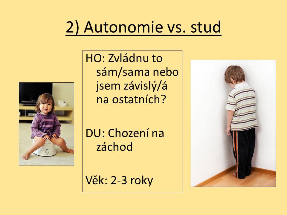 2) Autonomie vs. stud HO: Zvládnu to sám/sama nebo jsem závislý/á na ostatních.