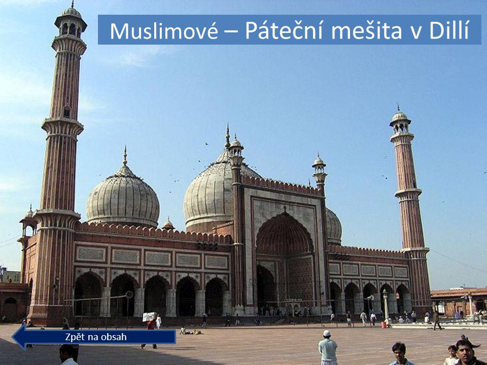 Muslimové – Páteční mešita v Dillí