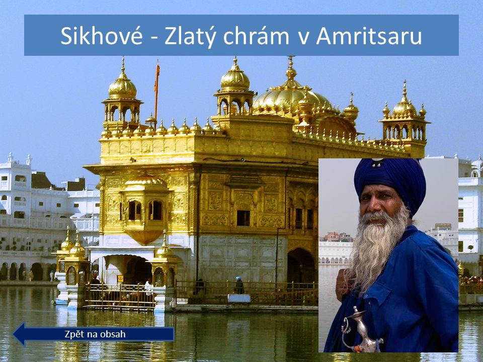 Sikhové - Zlatý chrám v Amritsaru