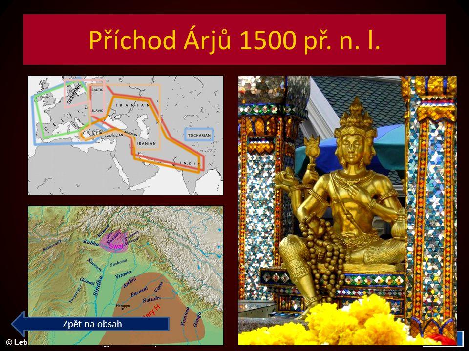 Příchod Árjů 1500 př. n. l. Zpět na obsah