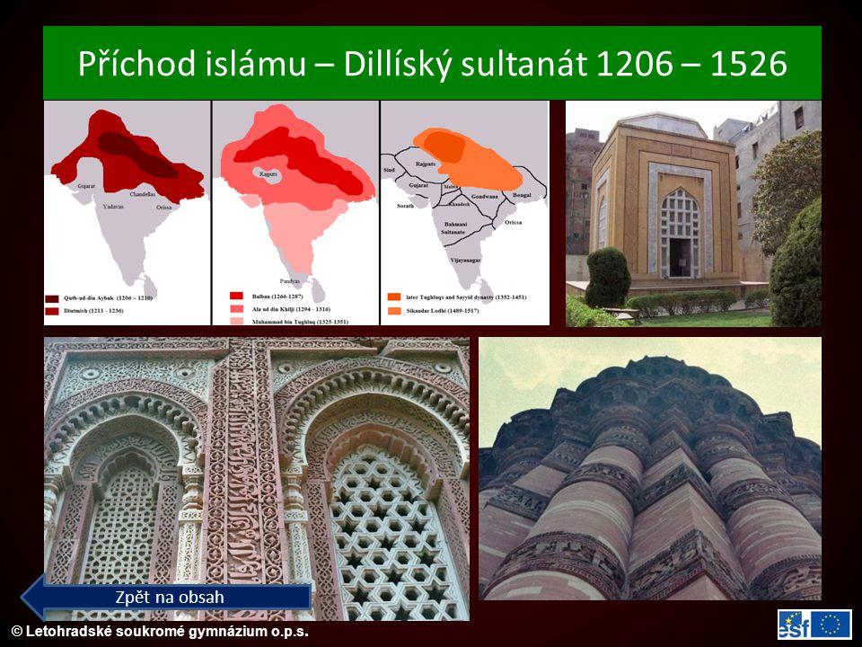 Příchod islámu – Dillíský sultanát 1206 – 1526