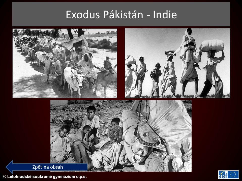 Exodus Pákistán - Indie