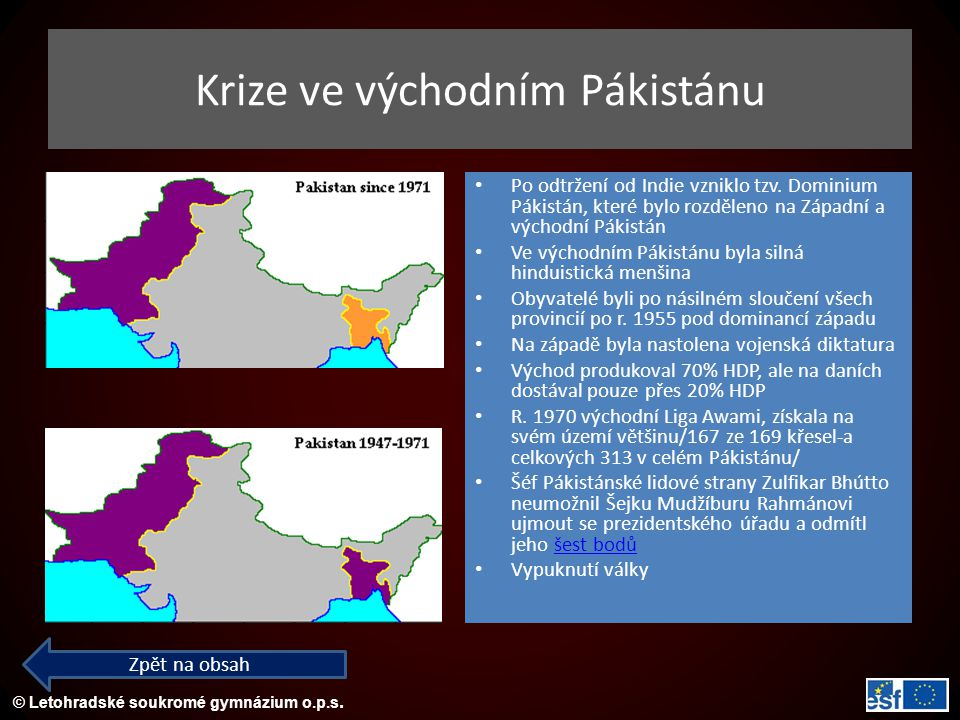 Krize ve východním Pákistánu
