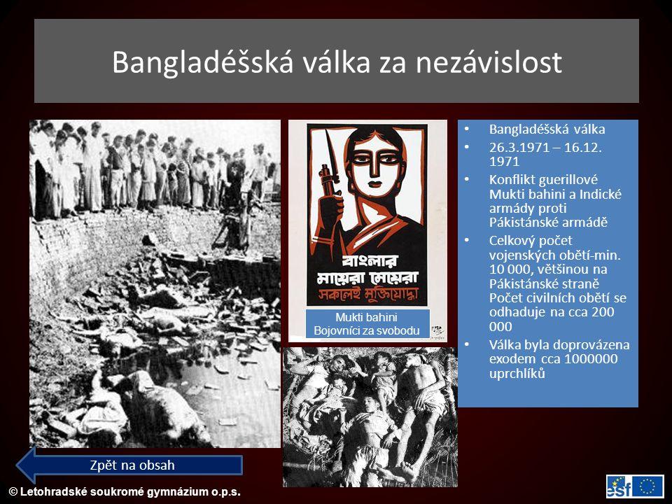 Bangladéšská válka za nezávislost