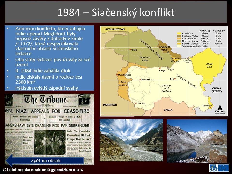 1984 – Siačenský konflikt