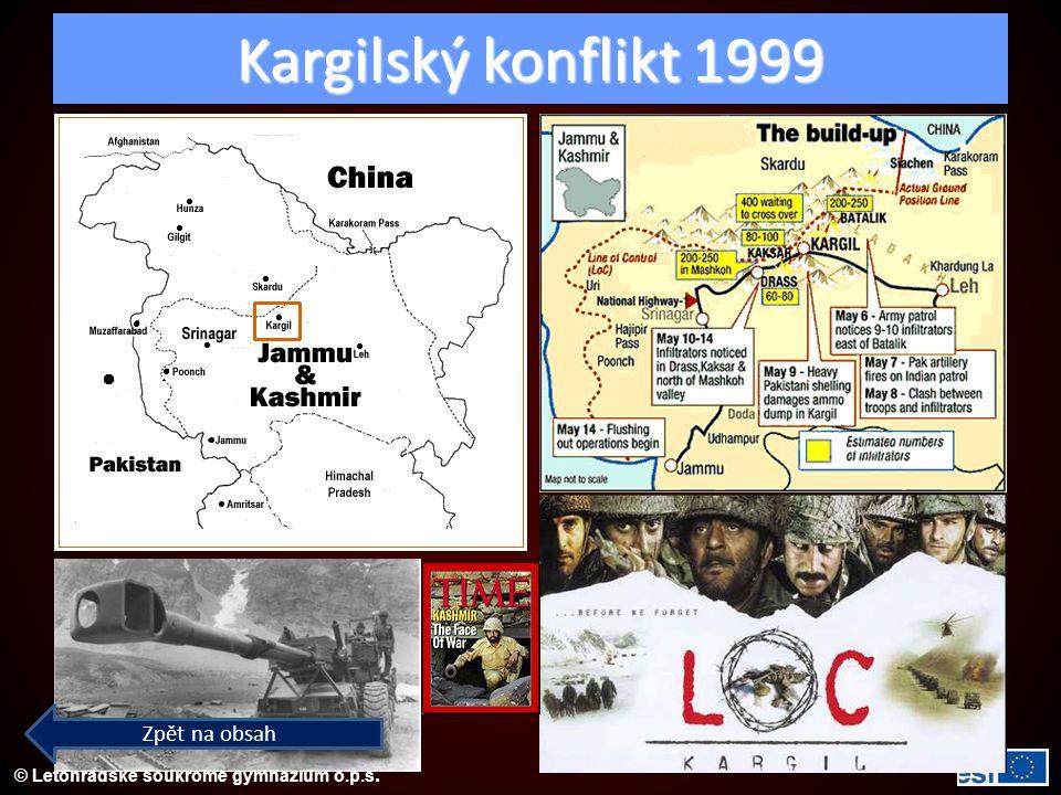 Kargilský konflikt 1999 Zpět na obsah