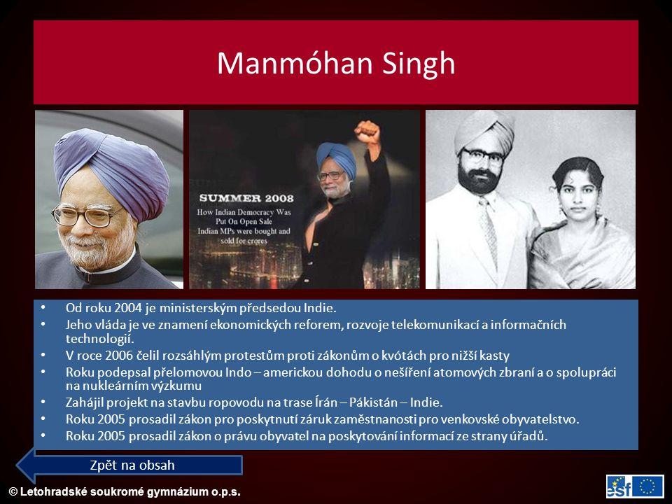 Manmóhan Singh Zpět na obsah