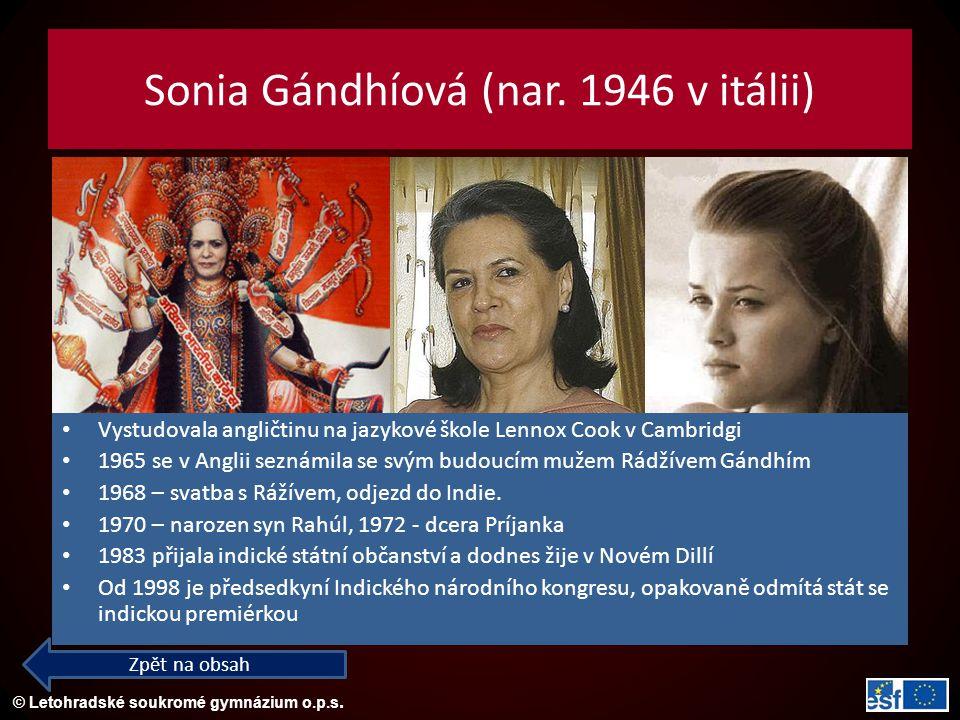 Sonia Gándhíová (nar. 1946 v itálii)