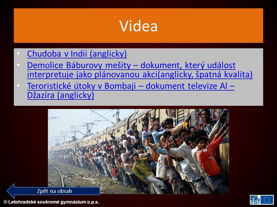 Videa Chudoba v Indii (anglicky)