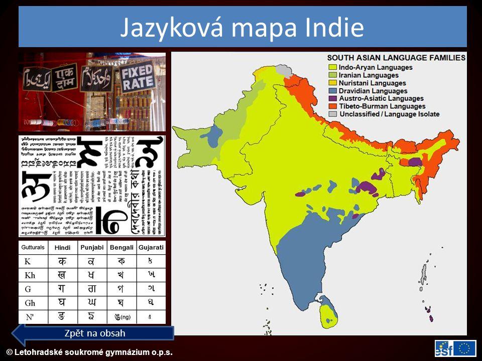 Jazyková mapa Indie Zpět na obsah