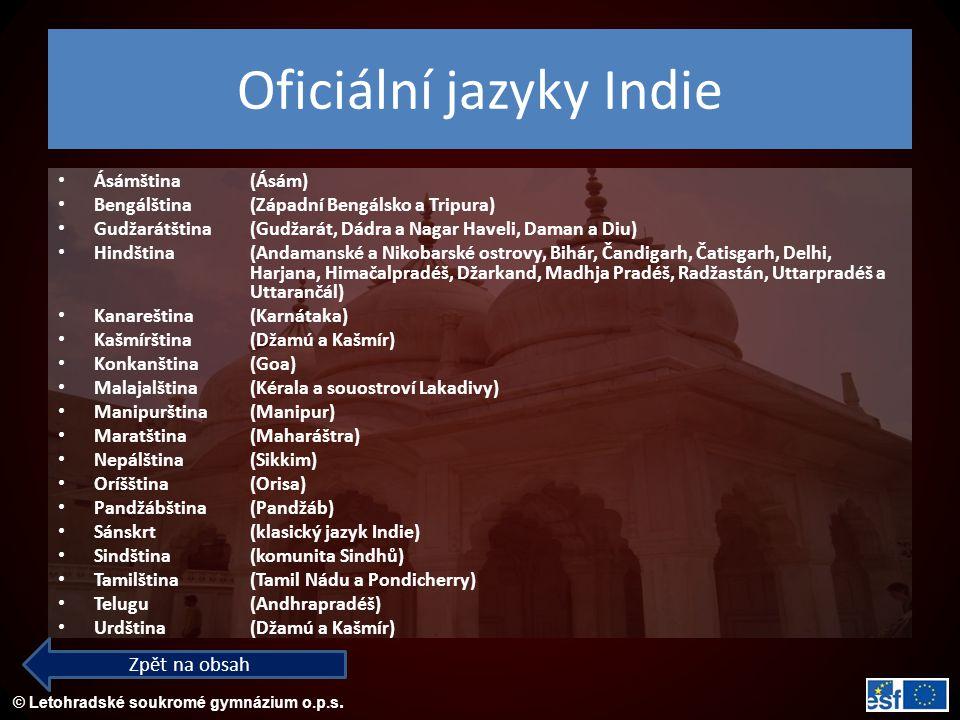 Oficiální jazyky Indie