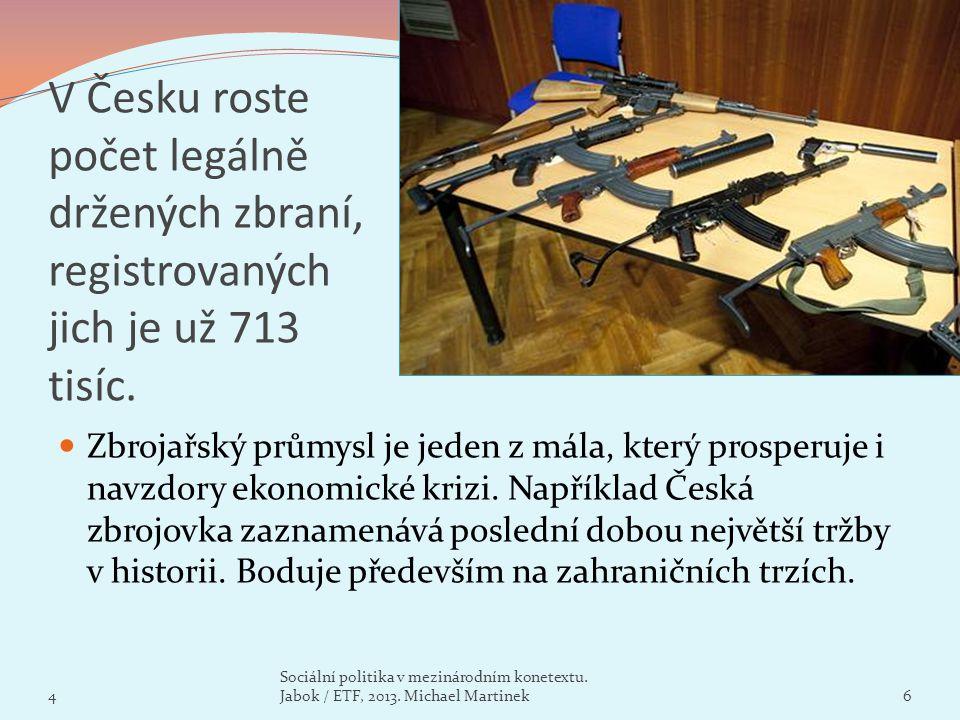 V Česku roste počet legálně držených zbraní, registrovaných jich je už 713 tisíc.