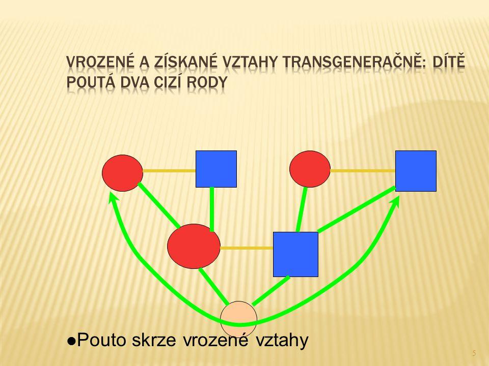 Vrozené a získané vztahy transgeneračně: dítě poutá dva cizí rody