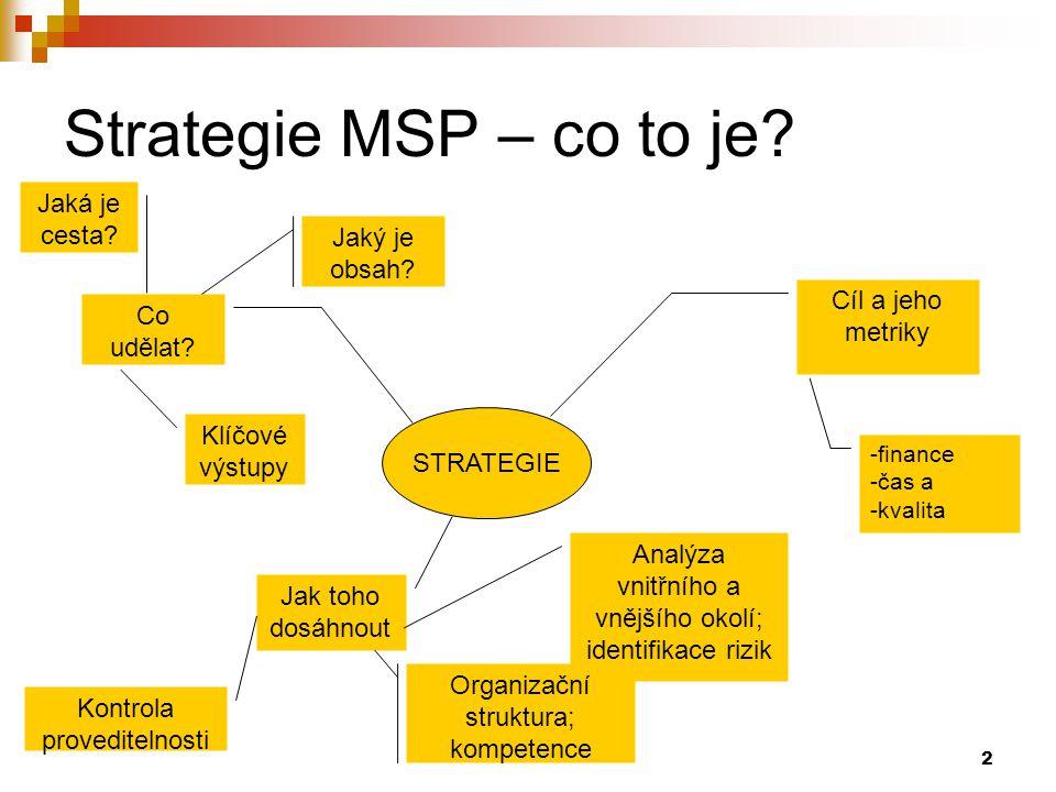 Strategie MSP – co to je Jaká je cesta Jaký je obsah