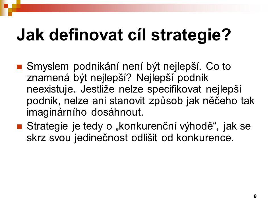 Jak definovat cíl strategie