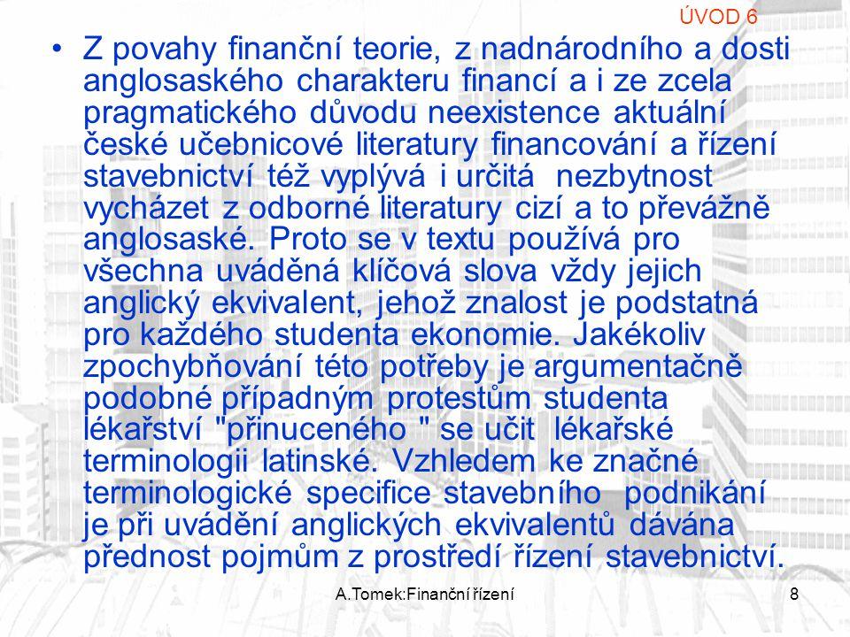 A.Tomek:Finanční řízení