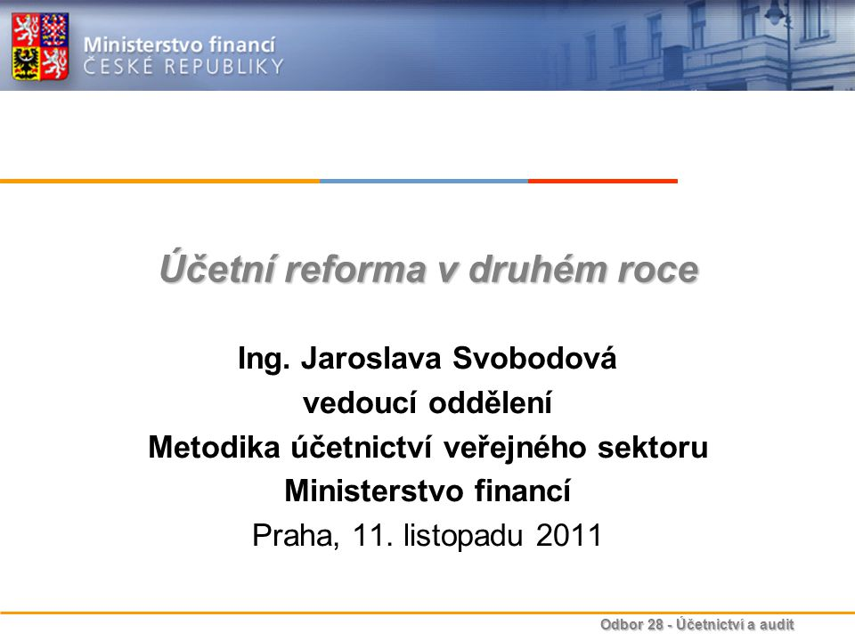 Účetní reforma v druhém roce