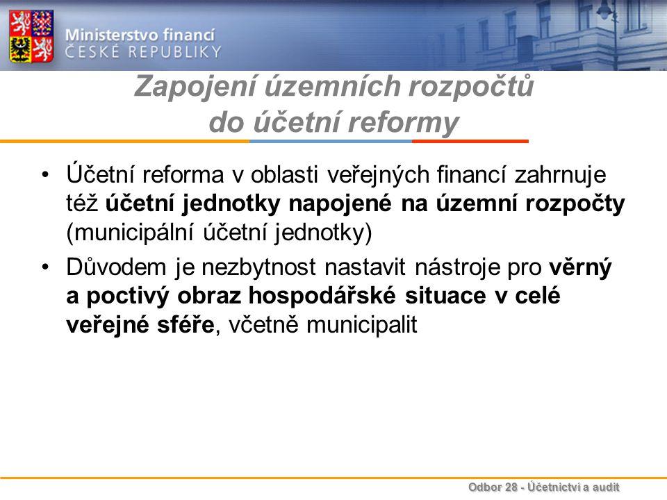 Zapojení územních rozpočtů do účetní reformy