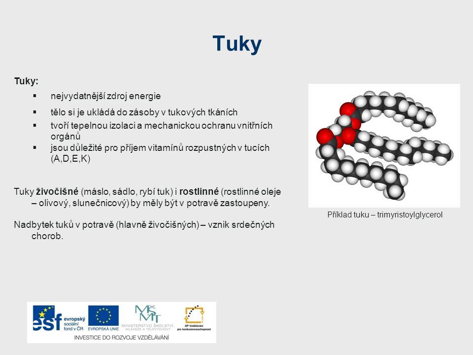 Příklad tuku – trimyristoylglycerol