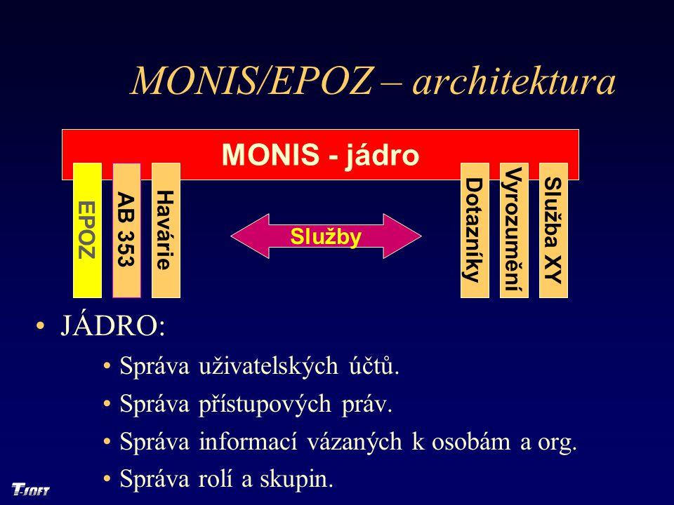 MONIS/EPOZ – architektura