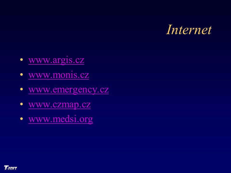 Internet www.argis.cz www.monis.cz www.emergency.cz www.czmap.cz