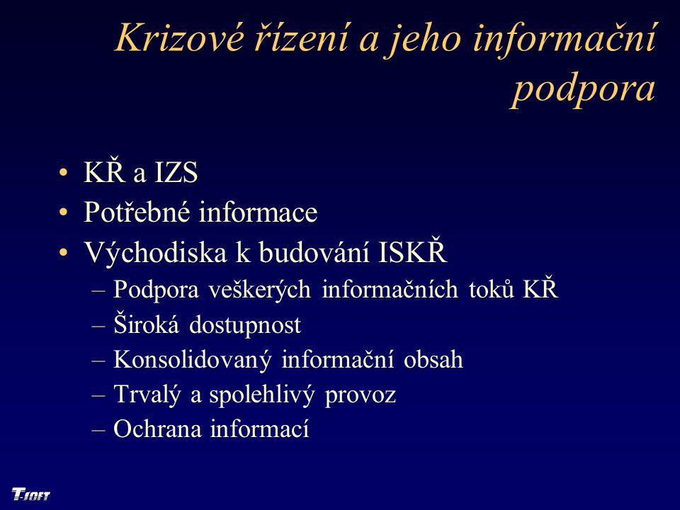 Krizové řízení a jeho informační podpora