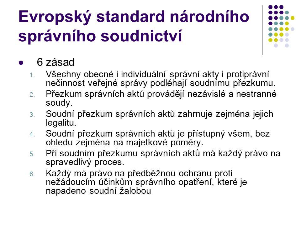 Evropský standard národního správního soudnictví