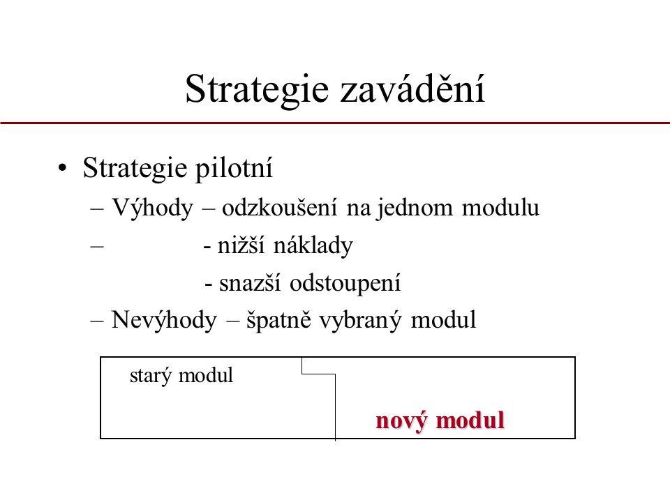 Strategie zavádění Strategie pilotní