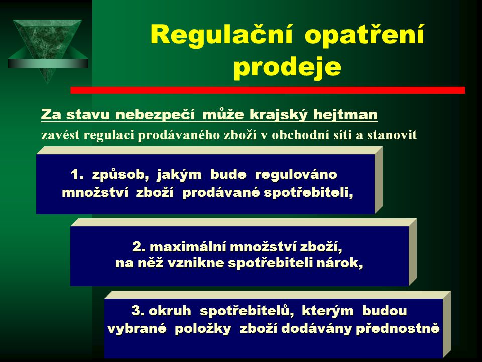 Regulační opatření prodeje