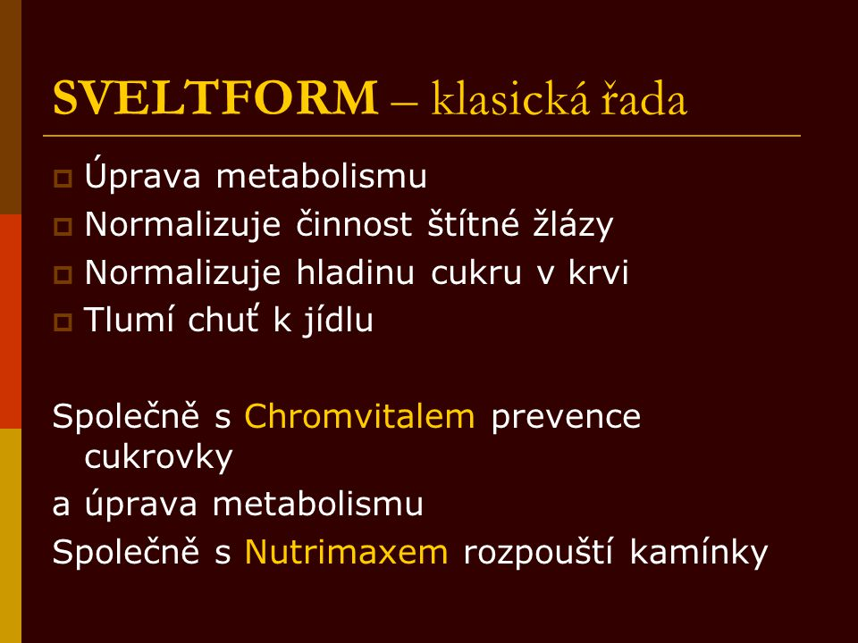 SVELTFORM – klasická řada