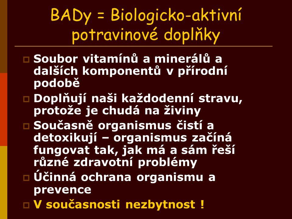 BADy = Biologicko-aktivní potravinové doplňky