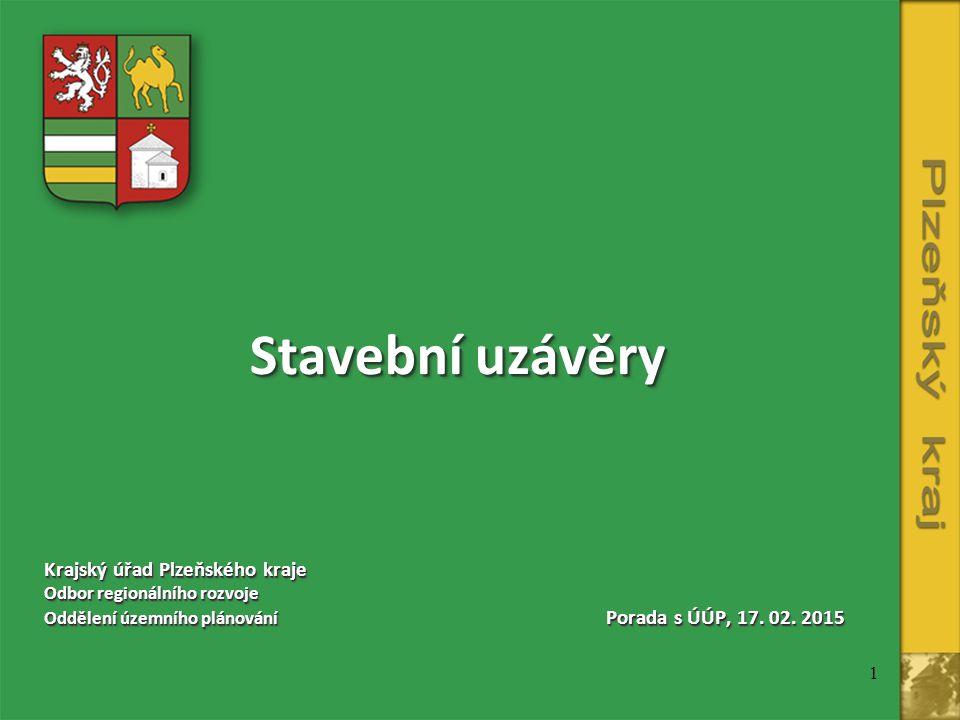 Stavební uzávěry Krajský úřad Plzeňského kraje