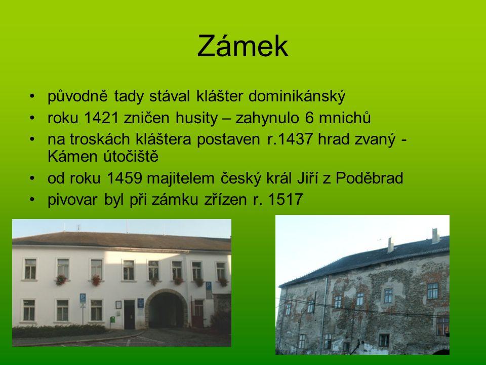 Zámek původně tady stával klášter dominikánský