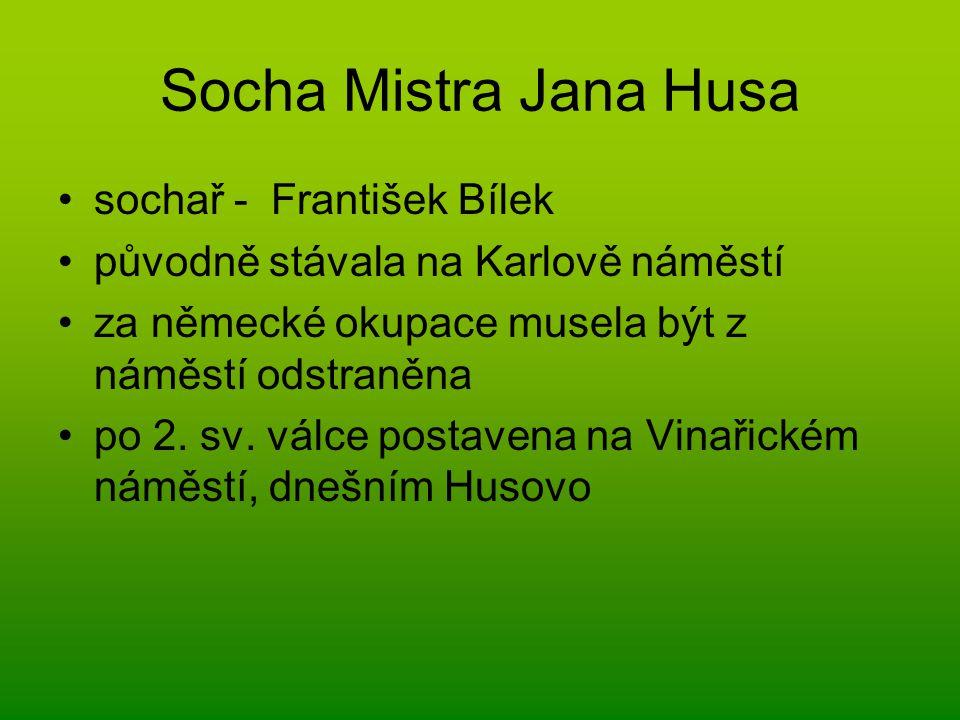 Socha Mistra Jana Husa sochař - František Bílek