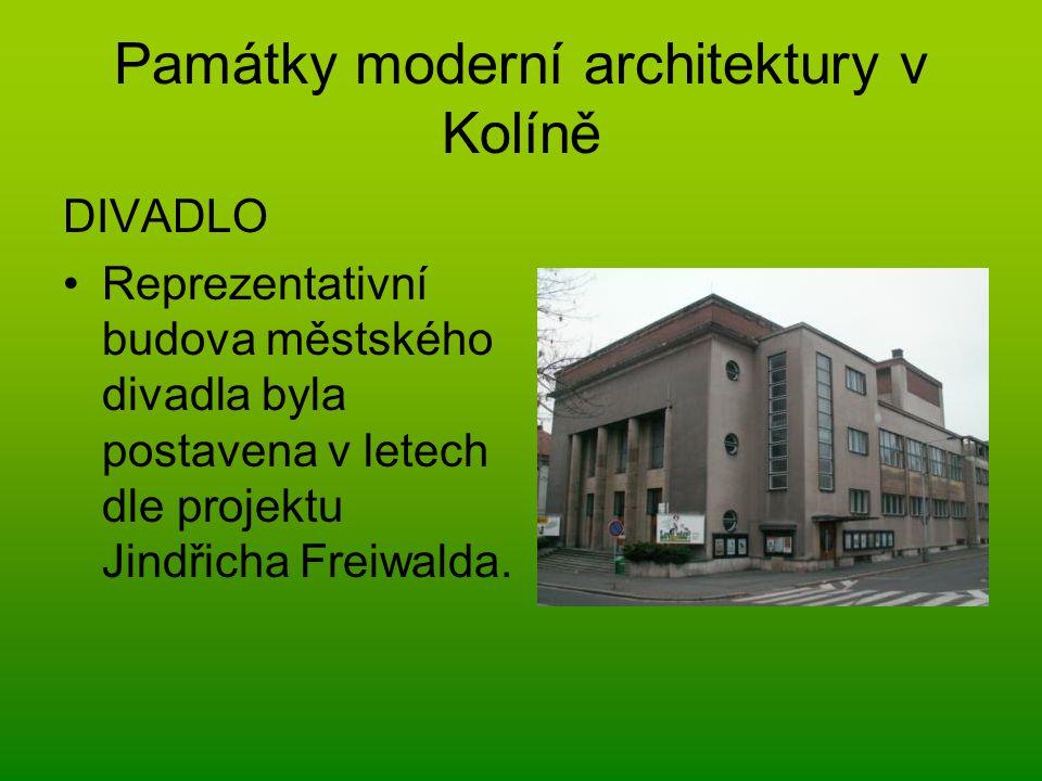 Památky moderní architektury v Kolíně