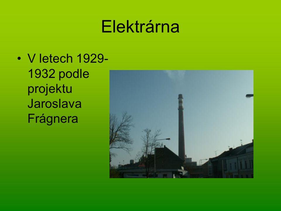 Elektrárna V letech 1929-1932 podle projektu Jaroslava Frágnera