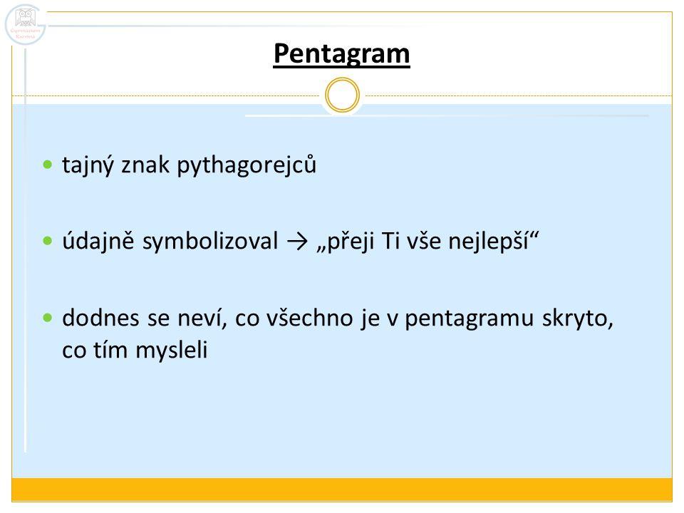 Pentagram tajný znak pythagorejců