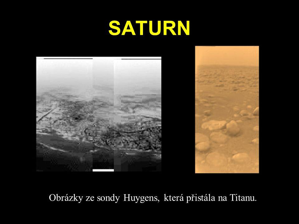 SATURN Obrázky ze sondy Huygens, která přistála na Titanu.