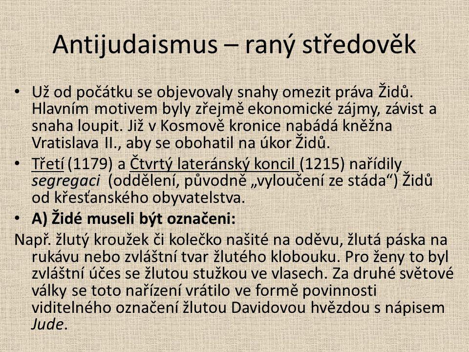 Antijudaismus – raný středověk