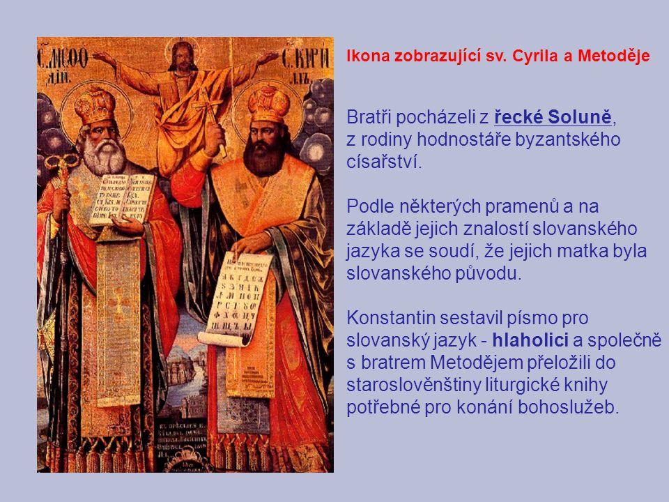 Ikona zobrazující sv. Cyrila a Metoděje