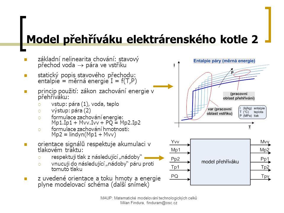 Model přehříváku elektrárenského kotle 2