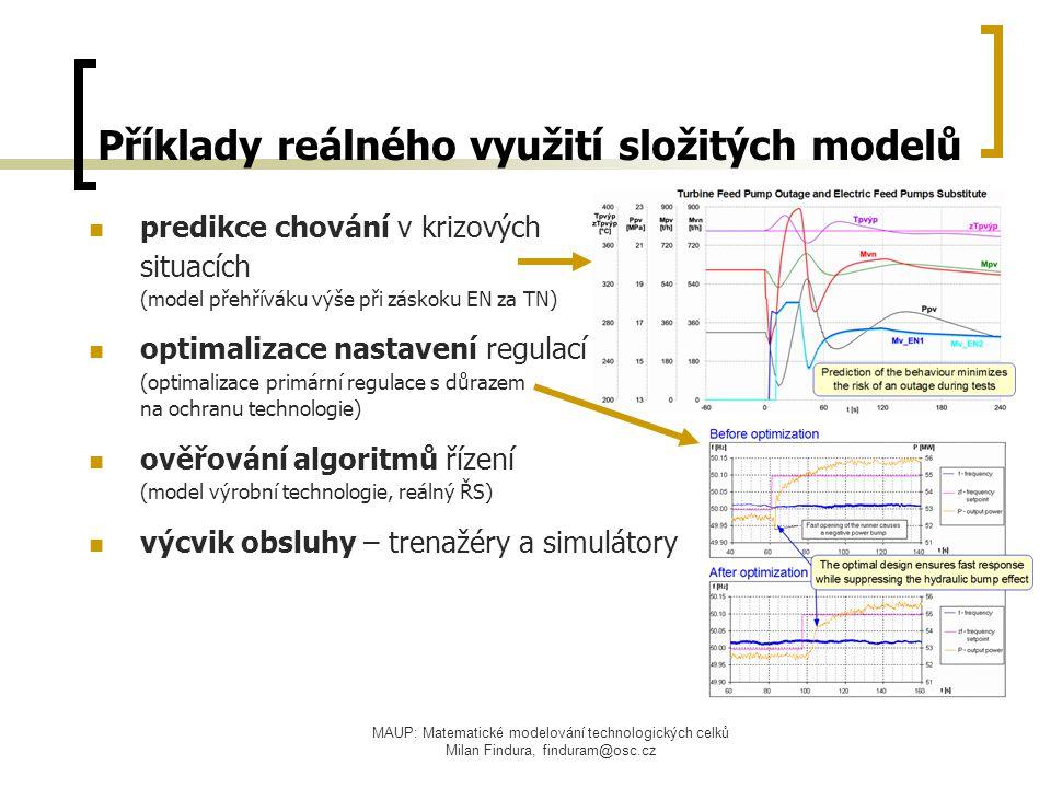 Příklady reálného využití složitých modelů