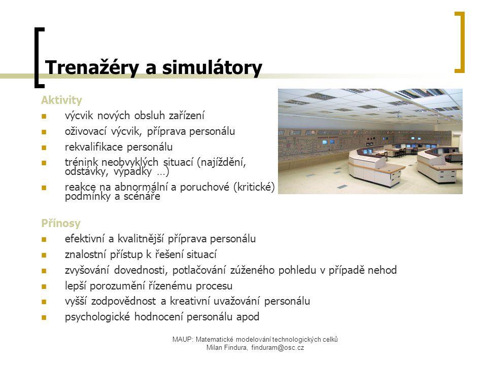 Trenažéry a simulátory