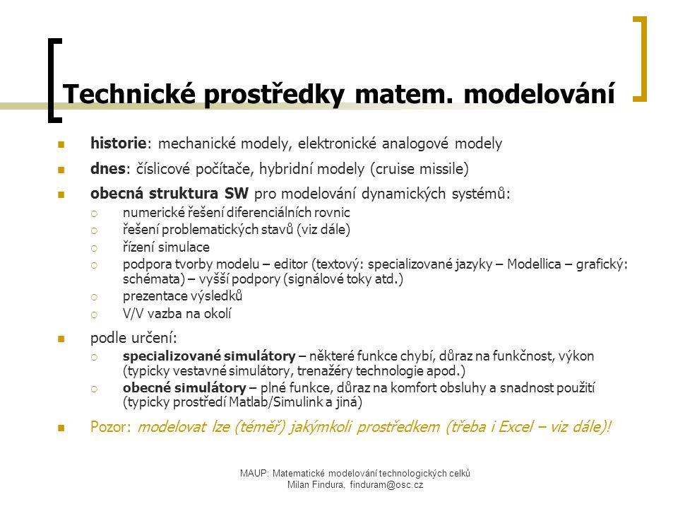 Technické prostředky matem. modelování