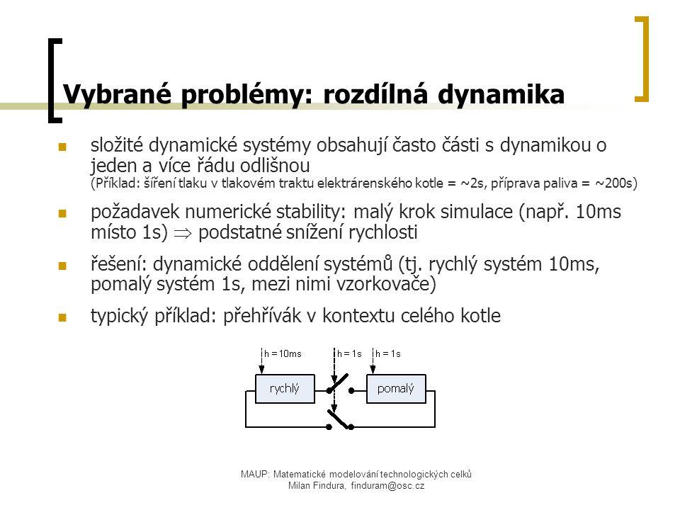 Vybrané problémy: rozdílná dynamika