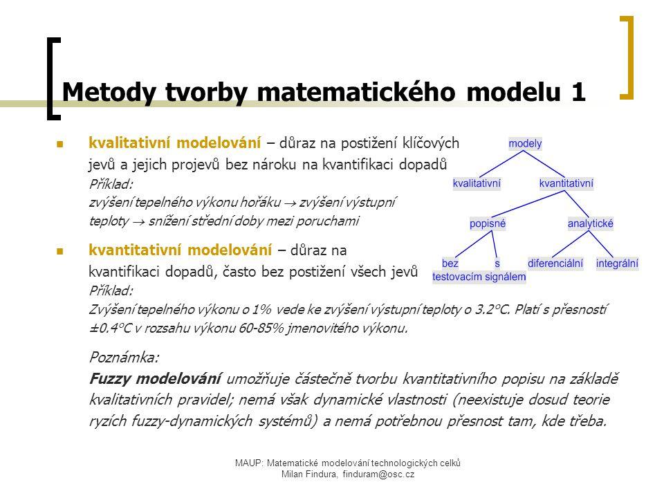 Metody tvorby matematického modelu 1